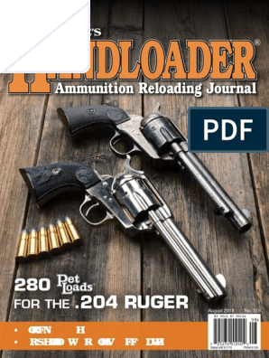 HandLoader - August 2018 USA | Bullet | Rifle
