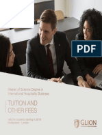 Master's Degree Switzerland London 2019 Tuition Fees