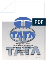 Summer Training Report at TATA MOTORS