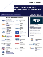 The Global Shutdown, Turnaround, Inspection & Maintenance Forum 28th-29th of March 2019 in Amsterdam, The Netherlands