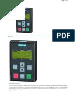 41. (6sl3255-0aa00-4ca1) Basic Operator Panel