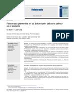Fisioterapia Preventiva en Las Disfunciones Del Suelo Pélvico en El Posparto