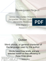 Diction in Creative Writing PowerPoint Presentation