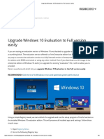 Upgrade Windows 10 Evaluation to Full version