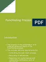 Punchlist Process