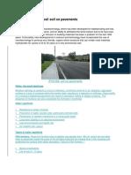 Application of Zycosil Soil on Pavements