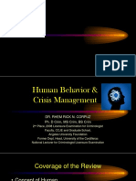 Human Behavior and Crisis Mgt Corpuz