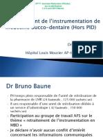 9h40 Le Retraitement de l'Instrumentation de Médecine Bucco-Dentaire 2