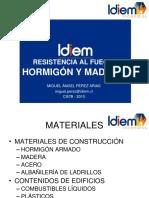 RESISTENCIA AL FUEGO HORMIGÓN Y MADERA