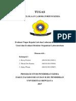 Evaluasi Tugas Kepala Lab Dan Laboran Di FKIP Kimia Unsri Dan Evaluasi Struktur Organisasi Laboratorium