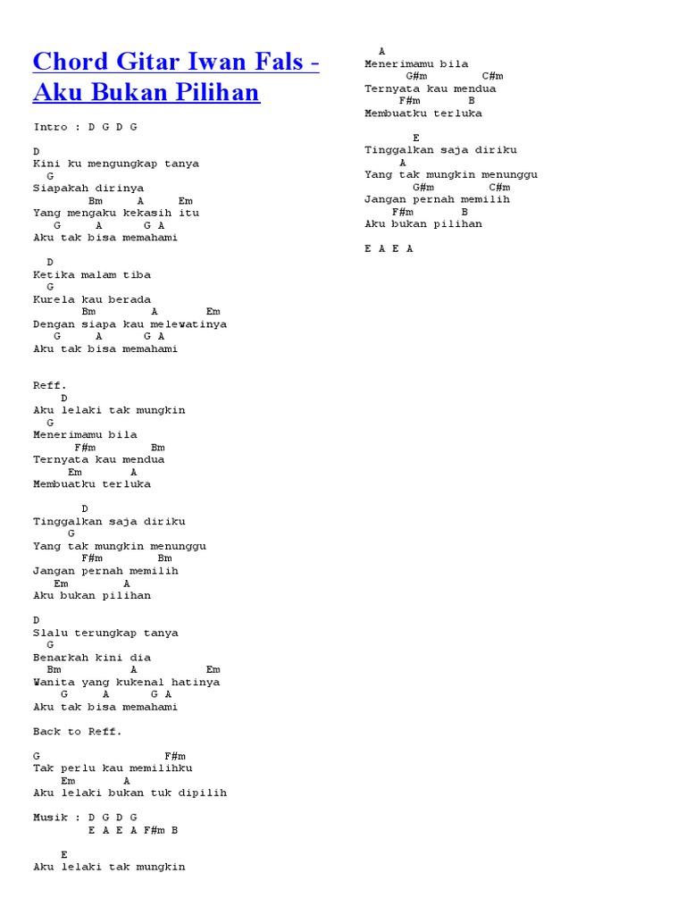 Chord Gitar Iwan Fals 2