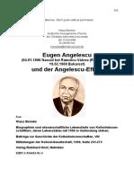 Eugen Angelescu (04.01.1896 Nascut bei Râmnicu Vâlcea (Rumänien) – 19.02.1968 Bukarest) und der Angelescu-Effekt