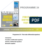 Program 24 FIRST-ORDER DIFFERENTIAL EQUATIONS.ppt