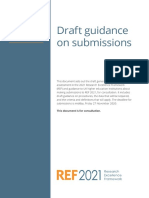 Draft Guidance on Submissions