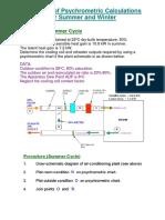 5.16. Psychrometrics - Example 1. Summer Cycle