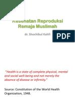 Kesehatan Reproduksi Santriwati