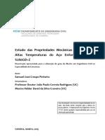 Estudo Das Propriedades Mecanicas e Termicas a Altas Temperaturas Do Aco Enformado a Frio S280GD