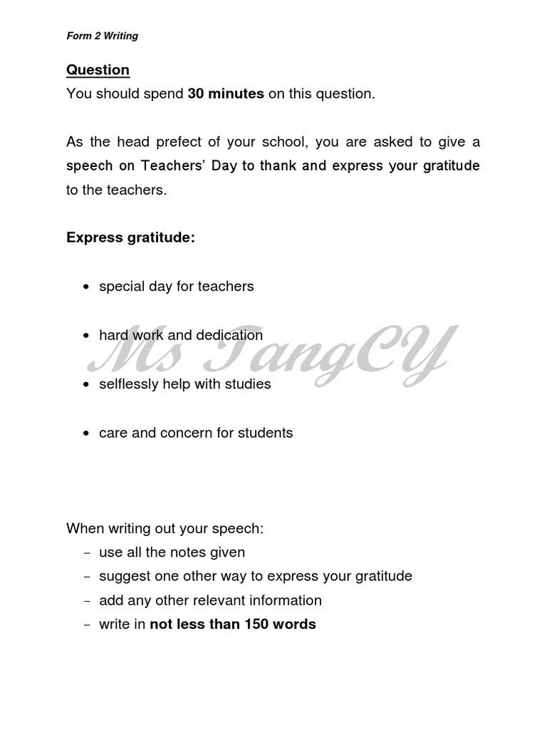 words of gratitude for teachers