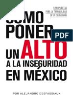 Como Poner Un Alto a La Inseguridad en Mexico