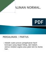 Persalinan Normal