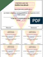 Certificado Horeb