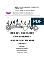 MEC291 mechanics and materials laboratory manual