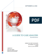 Summary a Guide to Case Analysis A