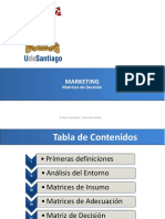 Marketing, Matrices de Decisión