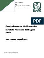 Cuadro Básico de Medicamentos IMSS