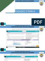 ACTIVIDADES ETAPA 6