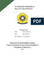 Laporan Biokimia Pembuatan Tape Singkong