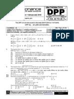 XII Maths DPP (18) - Prev Chapsfffffffffffff