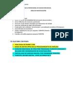 Lineamientos Finales de Proyecto 2018-1