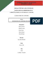 Metotologia de Audotoria Finaciera