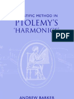 Andrew Barker - Scientific Method in Ptolemy's Harmonics - CUP