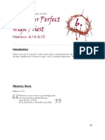Hebrews study guide - Section 6 - Our Perfect High Priest