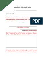 Comprensión y Producción de Textos Matriz y Rúbrica de Ensayo.docx
