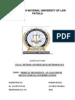 Seminar Legal Research