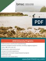 2018 bamfield courses