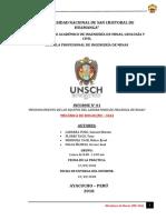 INFORME  01  MECÁNICA DE ROCAS -RECONOCIMIENTO DE EQUIPOS