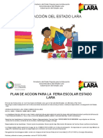 PLAN DE ACCION FERIA ESCOLAR ESTADO LARA 09-102018
