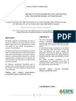 CÁLCULO DEL VOLUMEN DE UN CONO GENERADO CON AZÚCAR POR MEDIO DE UNA BANDA TRANSPORTADORA AUTOMATIZADA