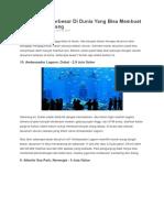10 Akuarium Terbesar Di Dunia Yang Bisa Membuat Kalian Tercengang