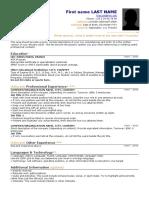 Resume Template HEC Paris