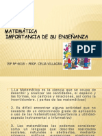 Importancia de Ensenar Matematicas