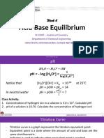 ACID BASE EQUILIBRIUM