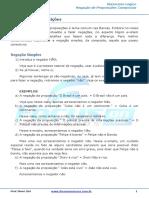 Negação de Preposição Simples e Composta - 002645