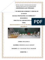Dterminacion de Proteinas a Calor Laboratorio