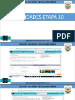 actividades etapa 10