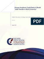 The Korean Academic Credit Bank a Model for Credit Transfer in North America